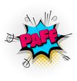paff pow comic book text pop art vector image vector image