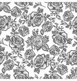 pattern grey rose branch vector image vector image