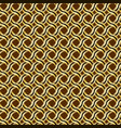 pattern of a golden curve of braids with a black vector image vector image
