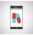 phone online health pharmacy vector image vector image