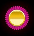 pink golden badge medal