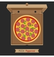 Pizza in the opened cardboard box vector image vector image