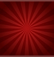 red rays retro background with halftones stylish vector image vector image
