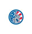 Republican Elephant Boxer Mascot Circle Cartoon vector image vector image