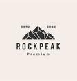 rock peak mount stone hipster vintage logo icon vector image vector image
