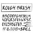 Rough brush alphabet vector image vector image