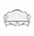 Royal Sofa with ornaments vector image vector image