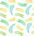 Seamless Background with Leaves of Palm Tree vector image