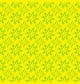 seamless geometrical yellow and green pattern vector image vector image