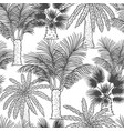 seamless pattern of palmtrees different vector image vector image