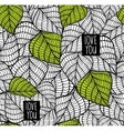 Seamless pattern with natural leaves vector image
