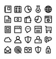 seo and marketing line icons 1 vector image vector image