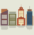 Set Of City Buildings vector image