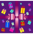 set of colorful gift box symbols vector image vector image