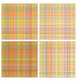 set of seamless rainbow patterns vector image