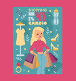 shopping typography poster vector image vector image
