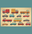 simple cars collection vector image vector image