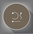 simple set to interface arrows white icon vector image vector image