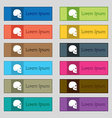 Skull icon sign Set of twelve rectangular colorful vector image