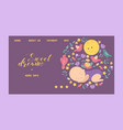 sleeping bawith small birds moon and flowers vector image