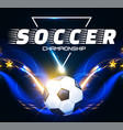 soccer ball with light effects football power vector image