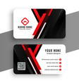 stylish red professional business card template vector image vector image