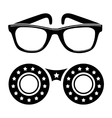 Sunglasses icon in disco style vector image vector image