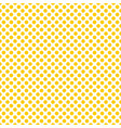 tile pattern with yellow polka dots on white backg vector image vector image