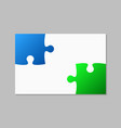 two piece puzzle background 2 puzzle step vector image