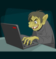 ugly internet troll vector image vector image