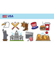 usa travel destination promotional poster vector image vector image