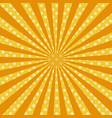 warm orange pop art retro comic background vector image vector image