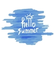 Watercolor Summer hand lettering vector image vector image