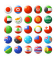 world flags round badges magnets asia and oceania
