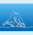 two doves logo white on blue gradient background vector image
