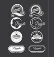 vintage logo set vector image