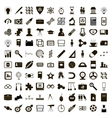 100 education icons set simple style vector image vector image