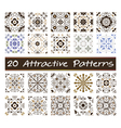 20 Attractive Patterns Art 01 vector image vector image