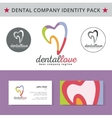 Abstract dentist tooth identity pack concept Logo vector image vector image