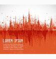 abstract orange grunge background with place vector image