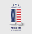 Abstract Patriot Day background vector image vector image