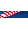 american nation banner with national flag vector image