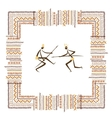 Ancient tribal people ethnic ornament frame for vector image vector image