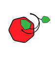 apple logo red and green vector image