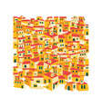 arabic traditional village east desert tiled vector image vector image