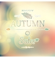 Autumn sale on defocused background EPS 10 vector image vector image