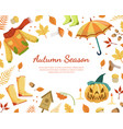 autumn season banner template with colorful leaves vector image vector image