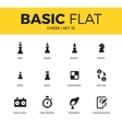 Basic set of chess icons vector image vector image