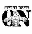 beast-mode-on-bodybuilding vector image