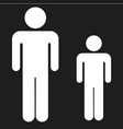 big and small man icon vector image vector image